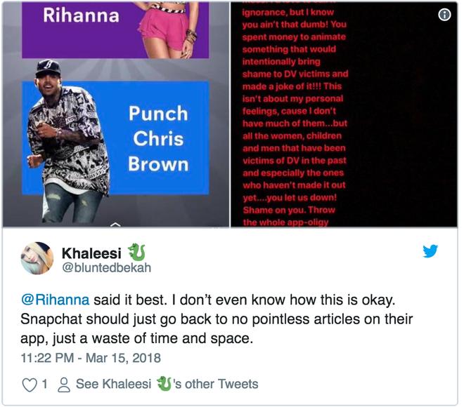 Ca sĩ Rihanna lên tiếng chỉ trích Snapchat cổ xuý nạn bạo hành trong gia đình, 600 triệu USD giá trị vốn hoá của Snap lập tức bốc hơi - Ảnh 3.