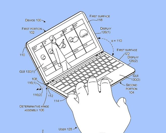 Bằng sáng chế mới đã nâng cấp ý tưởng smartphone hai màn hình lên một tầm cao mới.