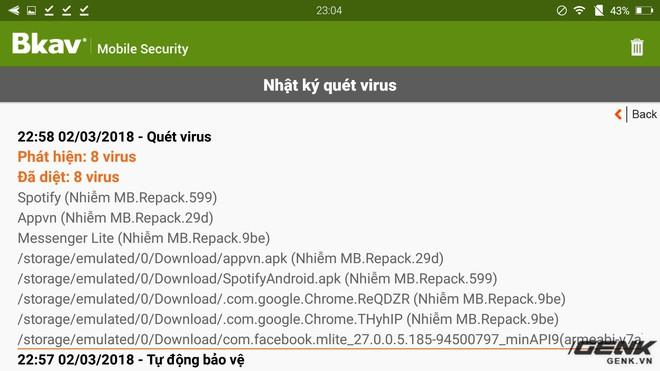 BMS phát hiện ra hàng loạt virus khi quét toàn hệ thống