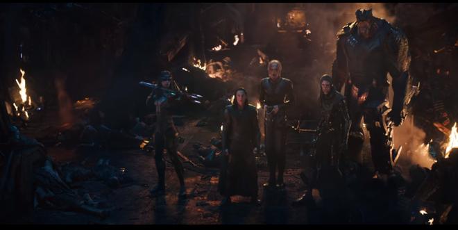 Team Black Order trong một phân cảnh của trailer. Có vẻ như số phận của Loki đang ngàn cân treo sợi tóc
