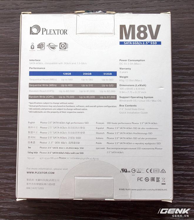Hiệu năng của SSD mà nhà sản xuất đã đưa ra