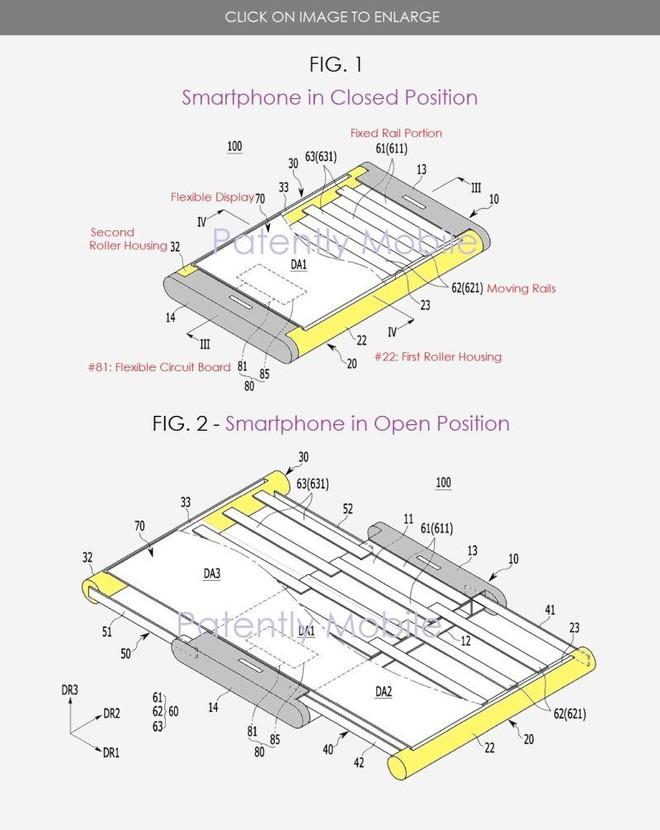 Lộ bằng sáng chế mới về smartphone có thể kéo rộng màn hình của Samsung - Ảnh 2.
