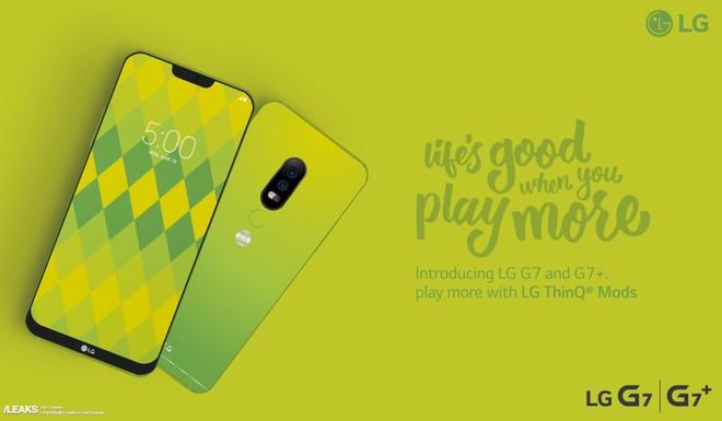 LG G7 màu nõn chuối xuất hiện trong poster quảng cáo - Ảnh 1.