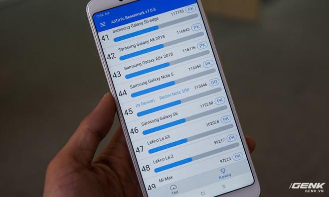 Hiệu năng của máy ngang ngửa với hai siêu phẩm của năm 2016 là Galaxy S6 và Note5.