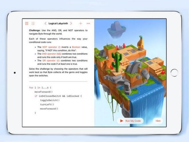 Microsoft có Minecraft, nhưng Google chưa có sản phẩm đối đầu trực diện với Swift Playground.