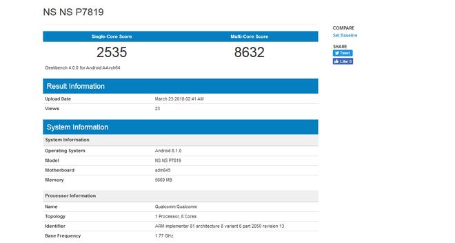 OnePlus 6 đạt điểm benchmark ấn tượng trên GeekBench, vượt qua cả Samsung Galaxy S9+ - Ảnh 1.