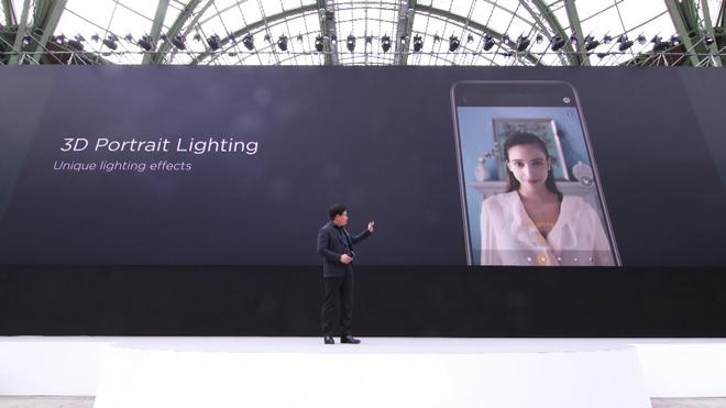 Camera trước của Huawei P20 được trang bị nhiều tính năng selfie độc đáo.