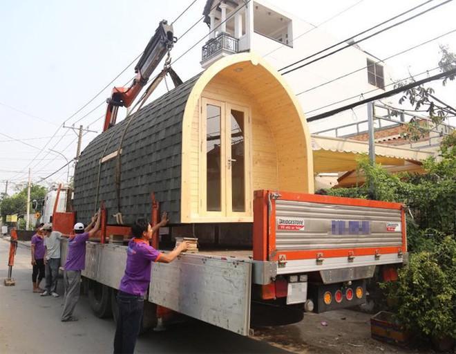 Ngôi nhà 140 triệu ở Sài Gòn có thể tháo lắp vận chuyển đi khắp nơi khiến nhiều người thích thú - Ảnh 1.