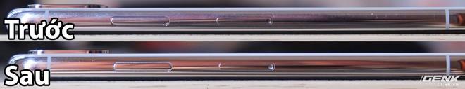 Viền iPhone X trước và sau khi đánh bóng