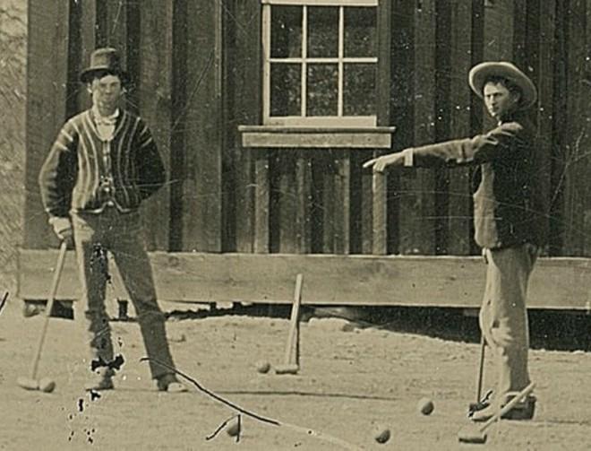 Billy the Kid khi nhìn gần trong bức ảnh.