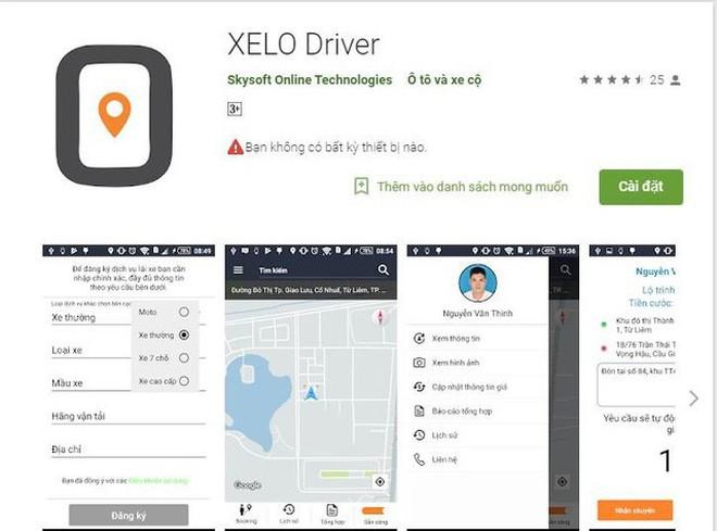 Ứng dụng XELO trên nền tảng Android