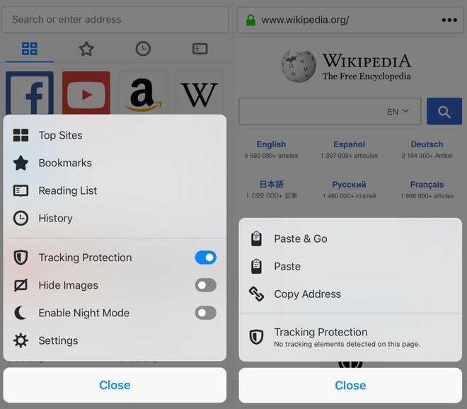 Firefox 11.0 cho iOS ra mắt, mặc định bật tính năng chống theo dõi - Ảnh 1.