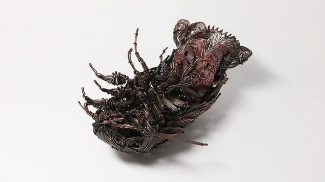 Ấn tượng với kỹ thuật uốn dây đồng tạo nên những tác phẩm điêu khắc cực ấn tượng của nghệ sỹ người Nhật - Ảnh 7.
