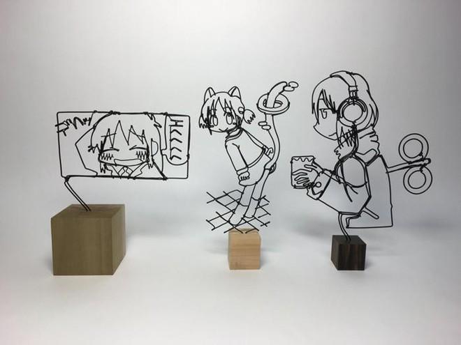Ấn tượng với kỹ thuật uốn dây đồng tạo nên những tác phẩm điêu khắc cực ấn tượng của nghệ sỹ người Nhật - Ảnh 14.