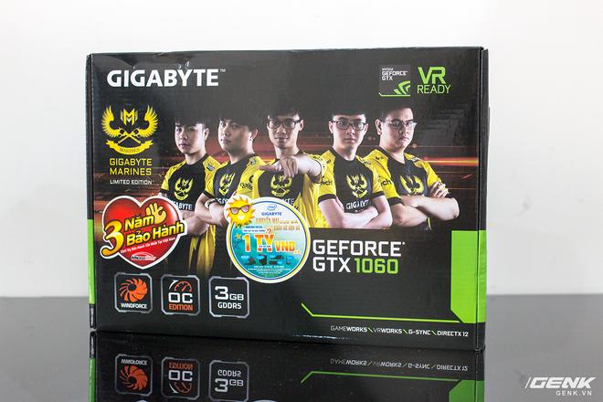Mở hộp Gigabyte GeForce GTX 1060 phiên bản giới hạn Gigabyte Marines - Ảnh 1.