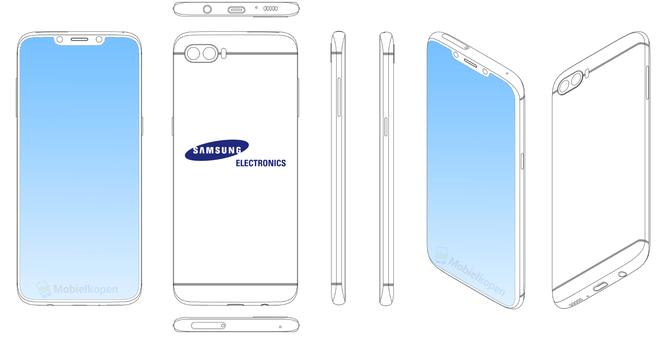 Thôi xong, bằng sáng chế cho thấy Samsung sắp gia nhập trào lưu màn hình tai thỏ vừa xuất hiện - Ảnh 1.