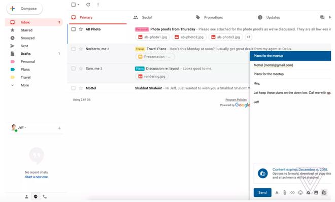 Gmail đang ra mắt chế độ tuyệt mật không cho in hay chuyển tiếp email - Ảnh 1.