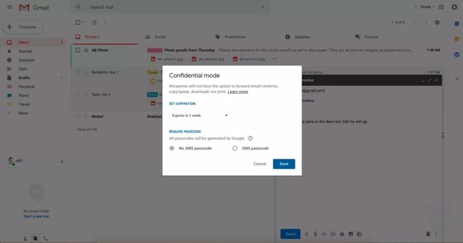 Gmail đang ra mắt chế độ tuyệt mật không cho in hay chuyển tiếp email - Ảnh 2.