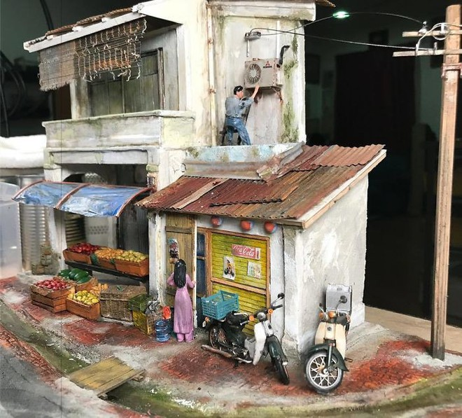 Nghệ sĩ Malaysia khiến Internet suýt xoa vì khả năng mô phỏng ký ức tài tình bằng mô hình - Ảnh 6.
