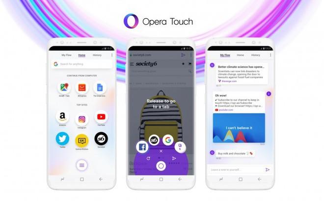 Opera công bố Opera Touch - trình duyệt di động mới được tối ưu để sử dụng một tay - Ảnh 1.