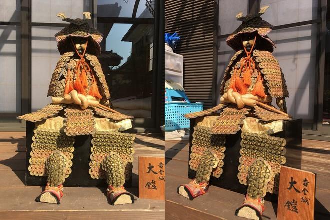 Bộ giáp samurai này được làm từ 1750 đồng xu, tác giả là một cậu bé tiểu học - Ảnh 5.