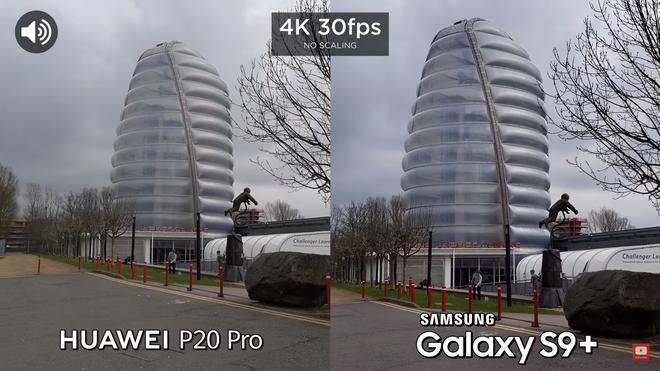 Tuy nhiên đến bài kiểm tra thứ 2 về khả năng quay video 4K 30 fps ở camera sau thì đã có sự khác biệt. Khả năng chống rung của P20 Pro dường như là quá tệ