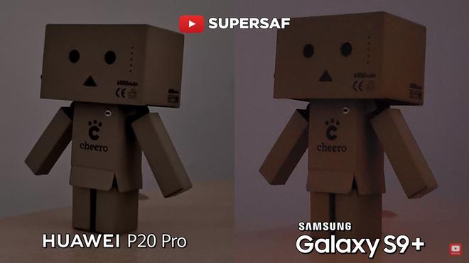 Sau đó thử phóng to lên 200% thì điều bất ngờ rằng camera P20 Pro cho chi tiết tốt hơn, độ noise thấp, trong khi đó ảnh trên S9+ lại bị bệt và mất chi tiết khá nhiều