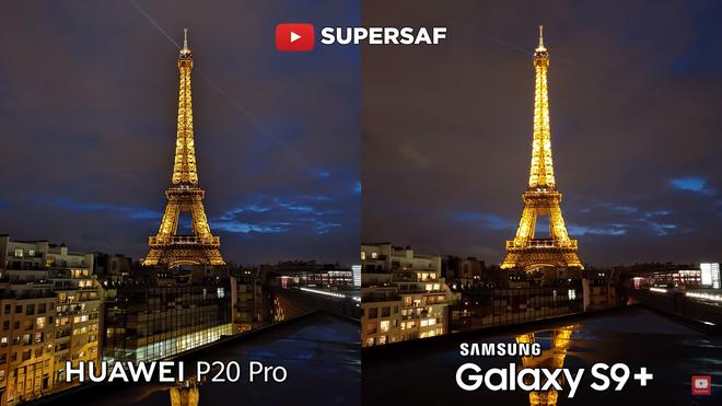 Ảnh của Galaxy S9+ bị cháy sáng ở phần đèn của tháp