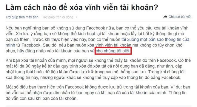 Muốn xóa tài khoản Facebook ư? Giao diện đầy toan tính của mạng xã hội này còn lâu mới cho bạn làm điều đó - Ảnh 3.