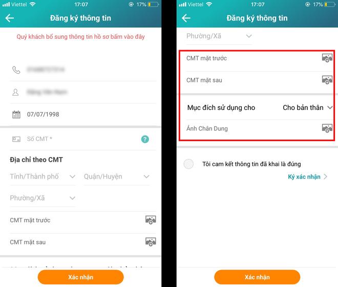 Hướng dẫn cập nhật thông tin thuê bao Viettel bằng smartphone: Chỉ mất vài phút là không lo bị khóa 1 chiều - Ảnh 6.