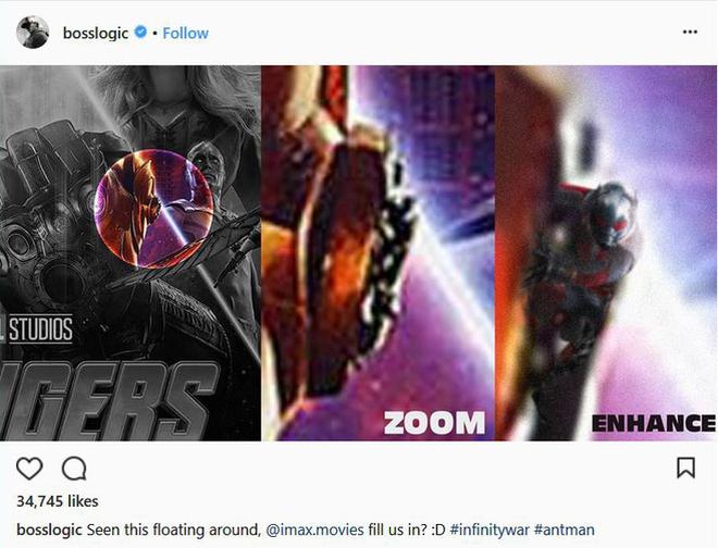 Cuối cùng, một người dùng Instagram đã zoom cận cảnh và phát hiện ra, khả năng lớn đó chính là Ant-Man!