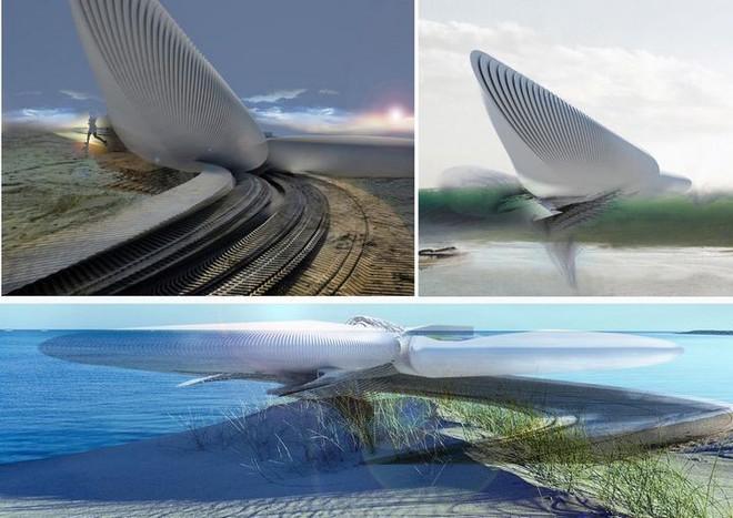 Ngắm ý tưởng khách sạn có thể bồng bềnh trên những con sóng và dùng điện từ thủy triều - Ảnh 8.