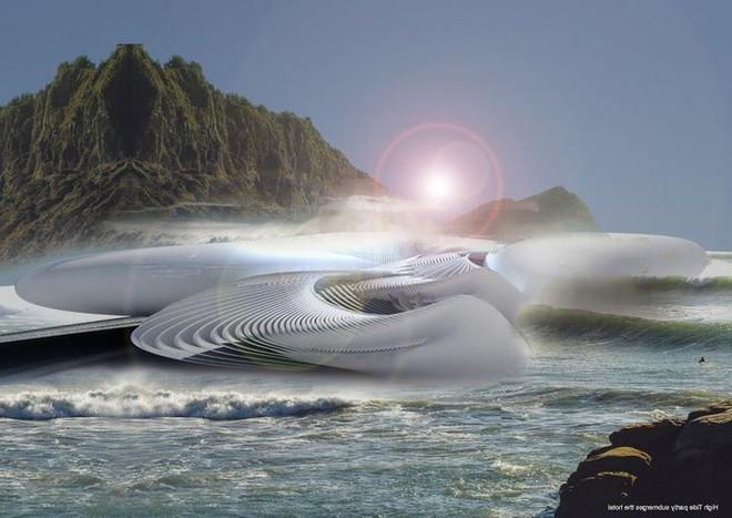 Ngắm ý tưởng khách sạn có thể bồng bềnh trên những con sóng và dùng điện từ thủy triều - Ảnh 2.