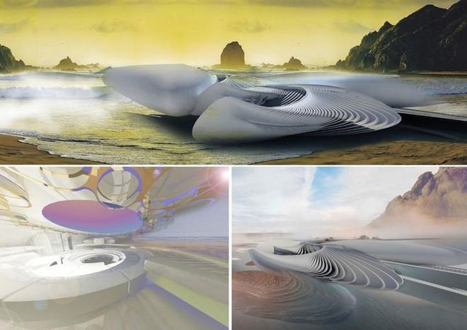 Ngắm ý tưởng khách sạn có thể bồng bềnh trên những con sóng và dùng điện từ thủy triều - Ảnh 9.