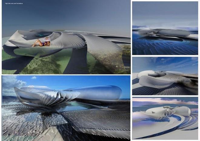 Ngắm ý tưởng khách sạn có thể bồng bềnh trên những con sóng và dùng điện từ thủy triều - Ảnh 10.