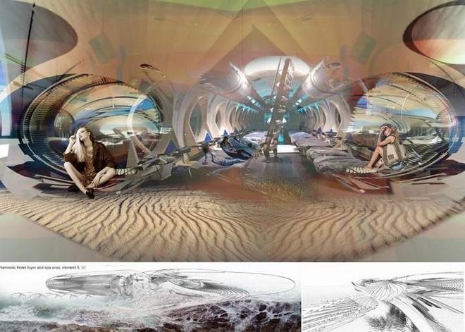 Ngắm ý tưởng khách sạn có thể bồng bềnh trên những con sóng và dùng điện từ thủy triều - Ảnh 13.