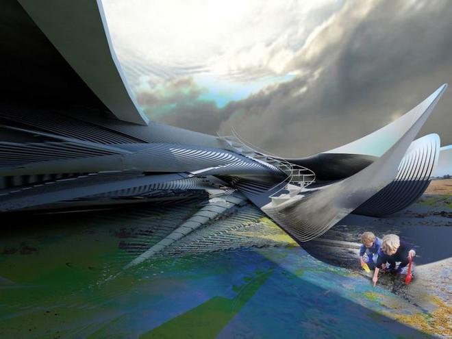 Ngắm ý tưởng khách sạn có thể bồng bềnh trên những con sóng và dùng điện từ thủy triều - Ảnh 4.