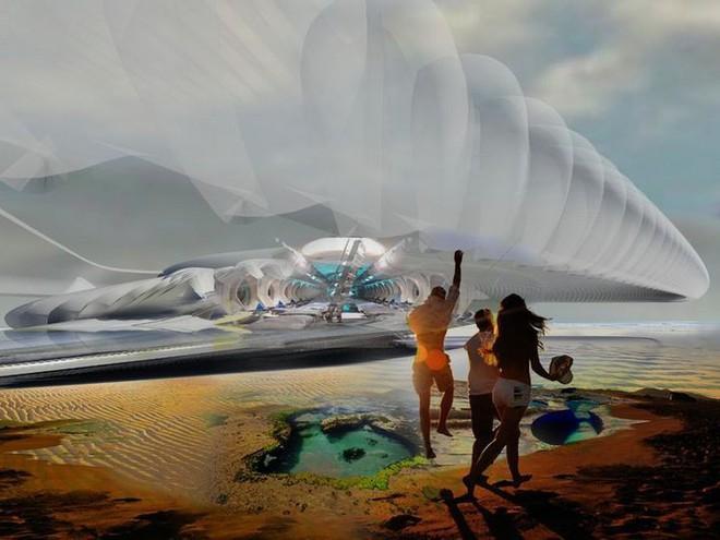 Ngắm ý tưởng khách sạn có thể bồng bềnh trên những con sóng và dùng điện từ thủy triều - Ảnh 3.
