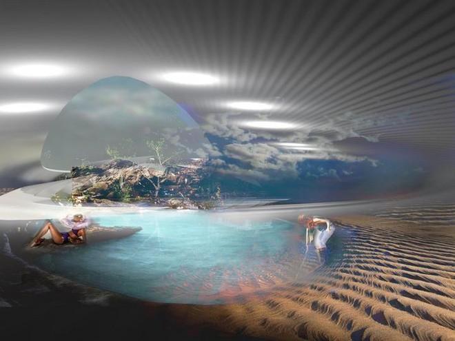 Ngắm ý tưởng khách sạn có thể bồng bềnh trên những con sóng và dùng điện từ thủy triều - Ảnh 14.