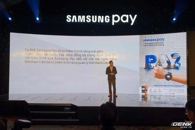 Samsung nâng cấp thêm tính năng mới cho ứng dụng thanh toán một chạm Pay: hỗ trợ thanh toán bằng Gear S3, rút tiền được tại máy ATM, đáp ứng 75% nhu cầu sử dụng thẻ của người dùng Việt - Ảnh 5.