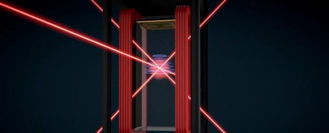 Cold Atom Laboratory sẽ sử dụng tia laser và nam châm để hạ nhiệt độ của nguyên tử xuống mức xấp xỉ độ không tuyệt đối.