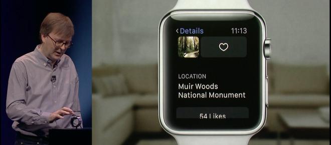Kevin Lynch là người làm demo sản phẩm Apple Watch.