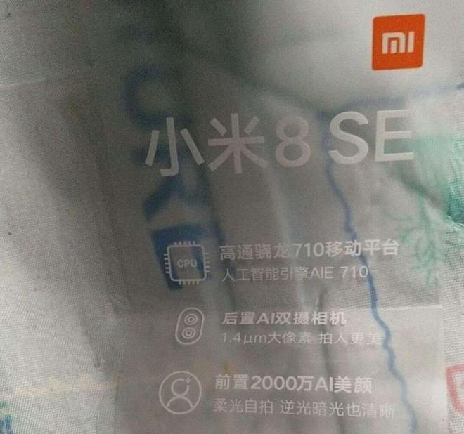 Mi 8 SE dùng chip Snapdragon 710 đầu tiên trên thế giới và camera kép hỗ trợ AI? - Ảnh 2.