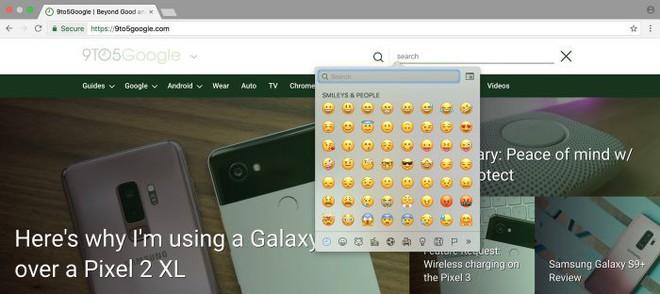 Google cập nhật Chrome 67: Nhập emoji dễ hơn, ra mắt API cho AR/VR và hỗ trợ game tốt hơn - Ảnh 2.