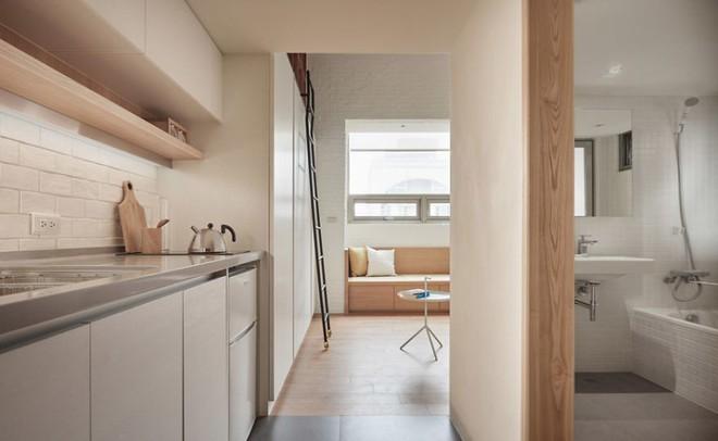 Từng cm được tính toán kỹ càng, căn hộ 22m2 ở Đài Loan trở thành ví dụ điển hình về việc tối đa hóa không gian nhỏ hẹp - Ảnh 1.