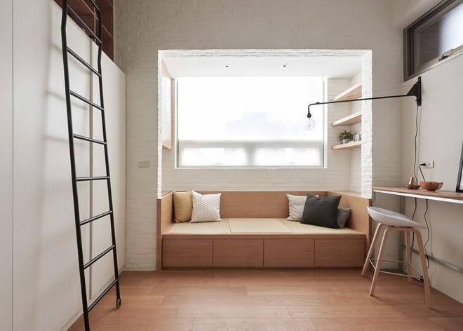 Từng cm được tính toán kỹ càng, căn hộ 22m2 ở Đài Loan trở thành ví dụ điển hình về việc tối đa hóa không gian nhỏ hẹp - Ảnh 2.
