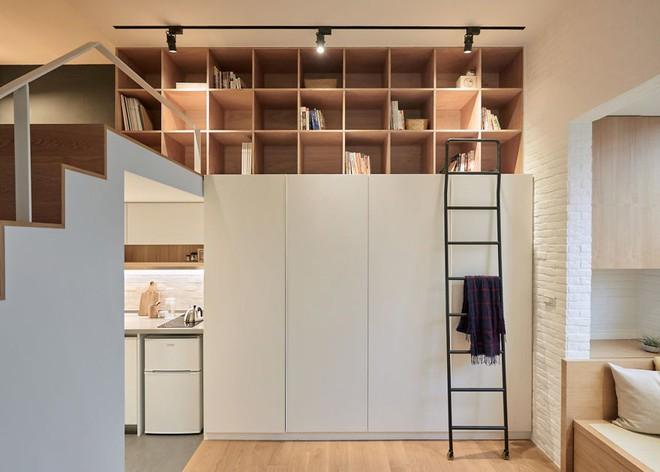 Từng cm được tính toán kỹ càng, căn hộ 22m2 ở Đài Loan trở thành ví dụ điển hình về việc tối đa hóa không gian nhỏ hẹp - Ảnh 3.