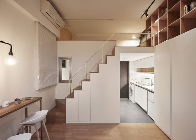Từng cm được tính toán kỹ càng, căn hộ 22m2 ở Đài Loan trở thành ví dụ điển hình về việc tối đa hóa không gian nhỏ hẹp - Ảnh 5.