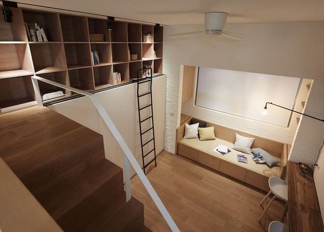 Từng cm được tính toán kỹ càng, căn hộ 22m2 ở Đài Loan trở thành ví dụ điển hình về việc tối đa hóa không gian nhỏ hẹp - Ảnh 7.