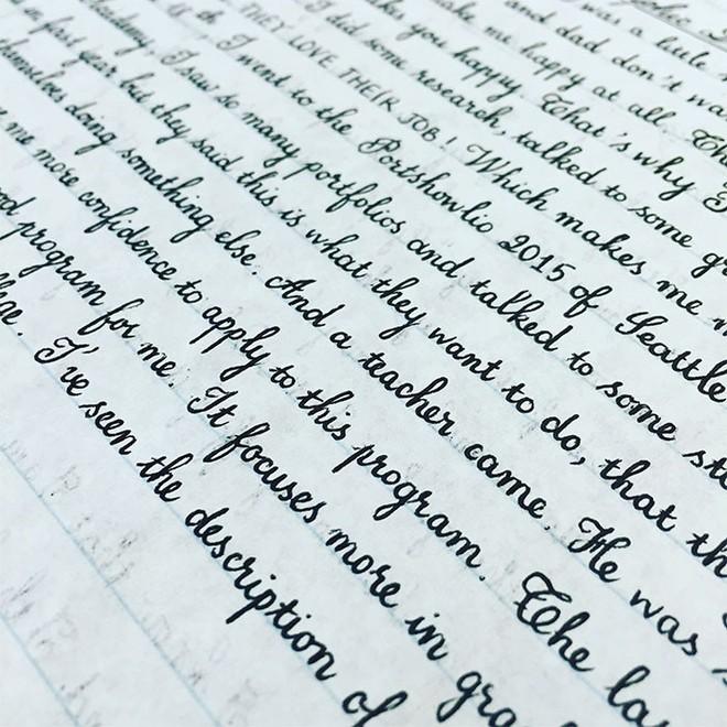 Những nét chữ viết tay hoàn hảo khiến font máy tính cũng phải chào thua - Ảnh 8.